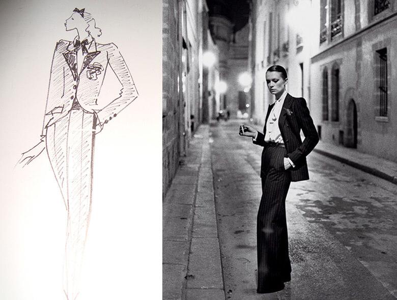 blogModacad-alfaiataria-feminina-Terno-feminino-Yves-Saint-Laurent